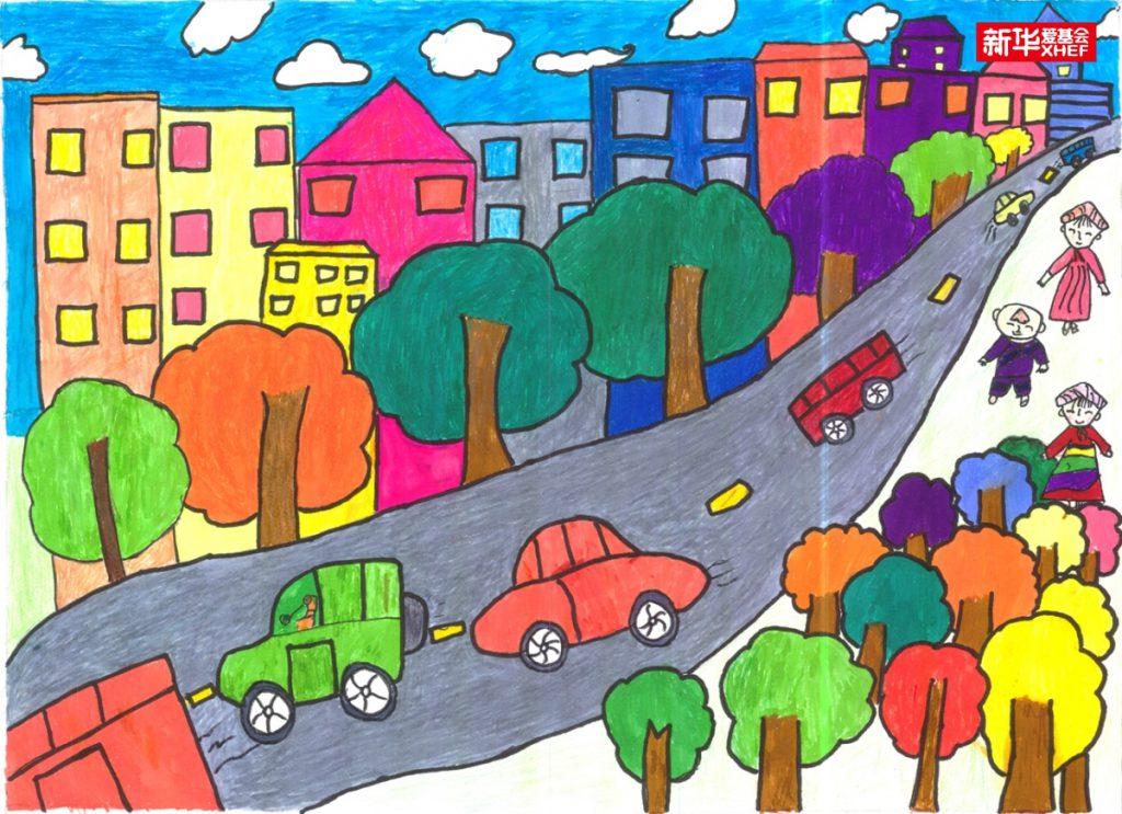 马彩琳:家乡的柏油路